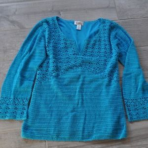 Vintage Lilly Pulitzer Crochet Sweater